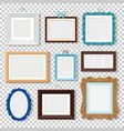 classic photo frames on transparent vector image vector image