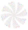 clock fireworks swirl flower vector image vector image