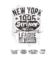 College New York team rugby retro emblem vector image