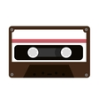 colorful old cassette graphic vector image vector image