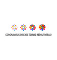coronavirus isolated icon for infographics vector image vector image