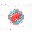 couple love line icon two hearts sign vector image vector image