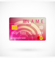 credit card with shadow vector image