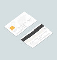 credit cards isometric set vector image vector image