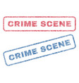 crime scene textile stamps vector image vector image