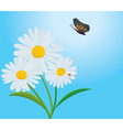 Daisy with butterfly vector | Price: 1 Credit (USD $1)