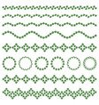 design elements in form herbal ornament vector image