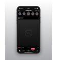design template instagram dark mode app ui vector image