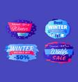 discounts best winter sale 2017 special offer set vector image vector image