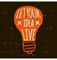 doodle lightbulb orange grunge conceptual vector image