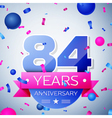 Eighty four years anniversary celebration on grey vector image vector image