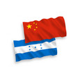 flags honduras and china on a white background vector image