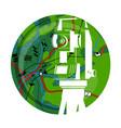 geodetic work symbol vector image vector image