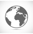 Globe Icon on gray vector image