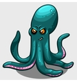 green evil octopus with eyes isolated vector image