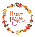 happy thanksgiving wreath graphic vector image vector image
