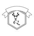Isolated reindeer of Christmas season design vector image vector image