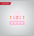 isolated wedding cake flat icon patisserie vector image