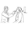 laryngoscope vintage vector image vector image