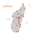 madagascar map with administrative divisions vector image