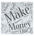 Make Money Online Work at home to make easy money vector image vector image