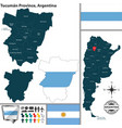 map of tucuman province argentina vector image vector image