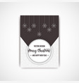 merry christmas dark color flyer with snowflake vector image vector image