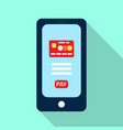 mobile payments from credit card vector image