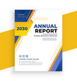 modern annual report business brochure template vector image