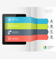 modern infographic business origami style options vector image vector image