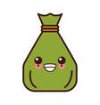 money sack bag kawaii cute cartoon vector image