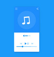 music streaming player interface mobile ui vector image