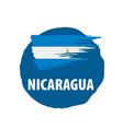 nicaragua flag on a white vector image vector image