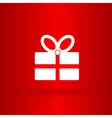Nice and funny present on the red background vector image vector image