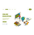 online education landing knowledge learning vector image