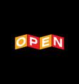 open logo vector image vector image