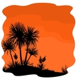 Palm Tree and Plants Yucca Silhouettes vector image vector image