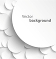Paper circles with drop shadows vector image vector image