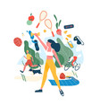 people performing sports activities or exercise vector image