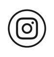 photo camera icon instagram digital application vector image