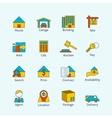 Real estate flat line icons vector image vector image