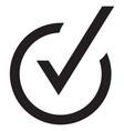 right check mark black icon symbol vector image vector image