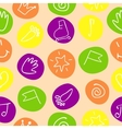 seamless pattern with drawings on the circles vector image vector image