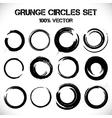 set grunge circles vector image