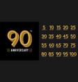 set of anniversary logotype golden anniversary vector image vector image