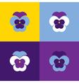 Set of geometric pansies Heartsease vector image vector image