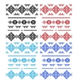 Set of laces isolated over white vector image vector image