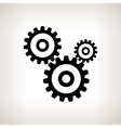Silhouette gears on a light background vector image vector image