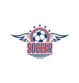soccer game symbol with football sport ball vector image vector image