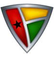 steel shield guinea-bissau vector image vector image
